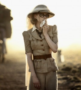 Nicole Kidman wearing a vintage safari suit in her 2008 film, Australia.
